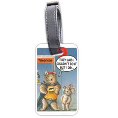 Wombat Woman Single-sided Luggage Tag
