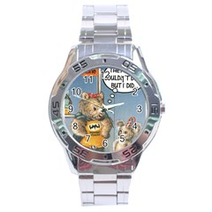 Wombat Woman Stainless Steel Analogue Watch (round)