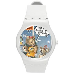 Wombat Woman Round Plastic Sport Watch Medium