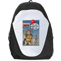 Wombat Woman Backpack Bag