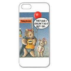 Wombat Woman Apple Seamless iPhone 5 Case (Clear)