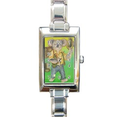 Green Gold Swaggie Classic Elegant Ladies Watch (Rectangle)