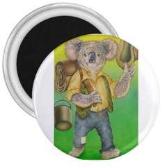 Green Gold Swaggie Large Magnet (Round)