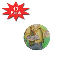 Green Gold Swaggie 10 Pack Mini Magnet (round)