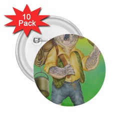 Green Gold Swaggie 10 Pack Regular Button (Round)