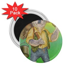 Green Gold Swaggie 10 Pack Regular Magnet (Round)