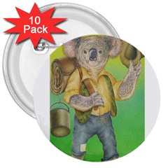Green Gold Swaggie 10 Pack Large Button (Round)