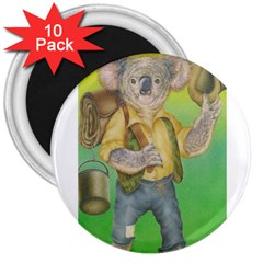 Green Gold Swaggie 10 Pack Large Magnet (Round)