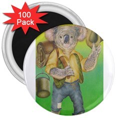 Green Gold Swaggie 100 Pack Large Magnet (round)
