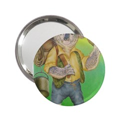 Green Gold Swaggie Handbag Mirror