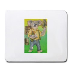 Green Gold Swaggie Large Mouse Pad (Rectangle)