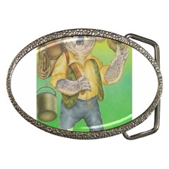 Green Gold Swaggie Belt Buckle (oval)