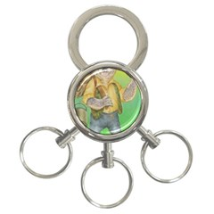 Green Gold Swaggie 3-Ring Key Chain