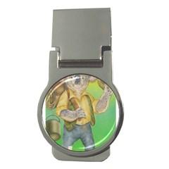 Green Gold Swaggie Money Clip (round)