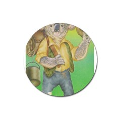 Green Gold Swaggie Large Sticker Magnet (Round)