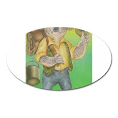 Green Gold Swaggie Large Sticker Magnet (Oval)