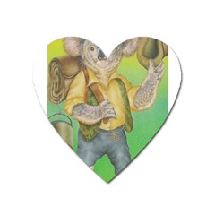 Green Gold Swaggie Large Sticker Magnet (Heart)
