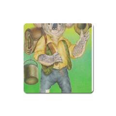 Green Gold Swaggie Large Sticker Magnet (Square)