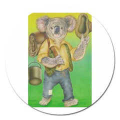 Green Gold Swaggie Extra Large Sticker Magnet (Round)