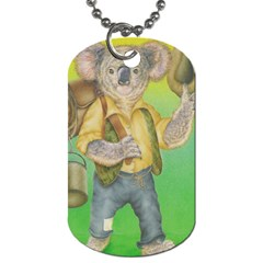 Green Gold Swaggie Single-sided Dog Tag