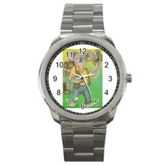 Green Gold Swaggie Stainless Steel Sports Watch (round)