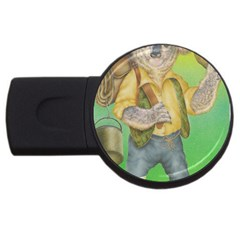 Green Gold Swaggie 4Gb USB Flash Drive (Round)