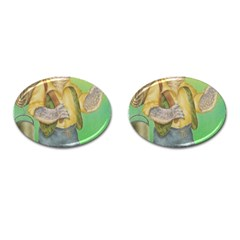 Green Gold Swaggie Oval Cuff Links