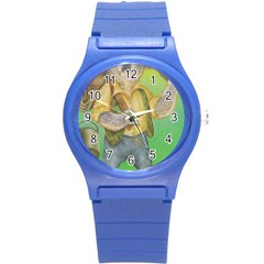 Green Gold Swaggie Round Plastic Sport Watch Small