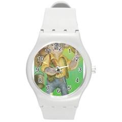 Green Gold Swaggie Round Plastic Sport Watch Medium