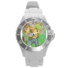 Green Gold Swaggie Round Plastic Sport Watch Large