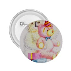 Koala And Bear  Regular Button (Round)