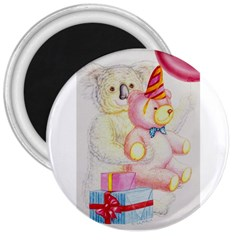 Koala And Bear  Large Magnet (round)