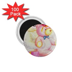 Koala And Bear  100 Pack Small Magnet (Round)