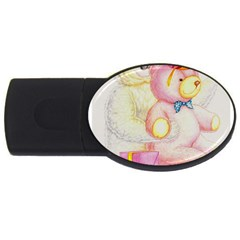 Koala And Bear  2Gb USB Flash Drive (Oval)