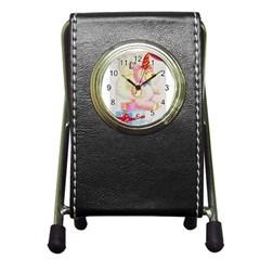 Koala And Bear  Stationery Holder Clock