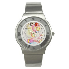 Koala And Bear  Stainless Steel Watch (Round)