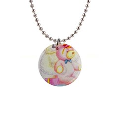 Koala And Bear  Mini Button Necklace