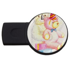 Koala And Bear  4Gb USB Flash Drive (Round)