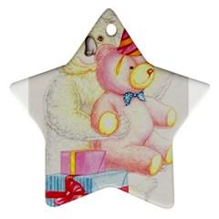 Koala And Bear  Twin-sided Ceramic Ornament (Star)