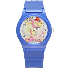 Koala And Bear  Round Plastic Sport Watch Small