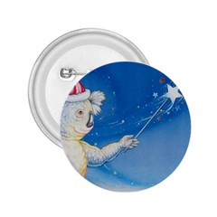 Santa Wand koala Regular Button (Round)