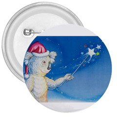 Santa Wand koala Large Button (Round)