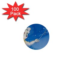 Santa Wand Koala 100 Pack Mini Button (round)