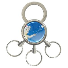 Santa Wand Koala 3 Ring Key Chain