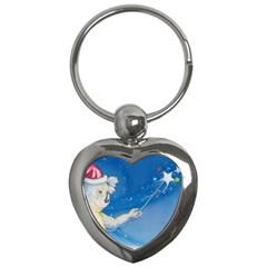 Santa Wand koala Key Chain (Heart)