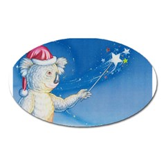 Santa Wand Koala Large Sticker Magnet (oval)
