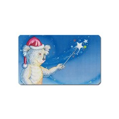 Santa Wand Koala Name Card Sticker Magnet