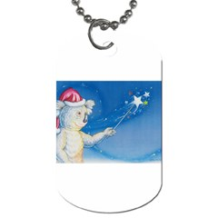 Santa Wand koala Twin-sided Dog Tag
