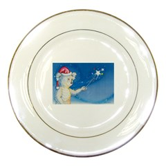 Santa Wand koala Porcelain Display Plate