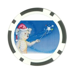 Santa Wand Koala Poker Chip